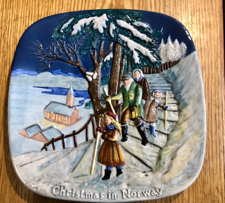 Christmas in Norway 3D Plate