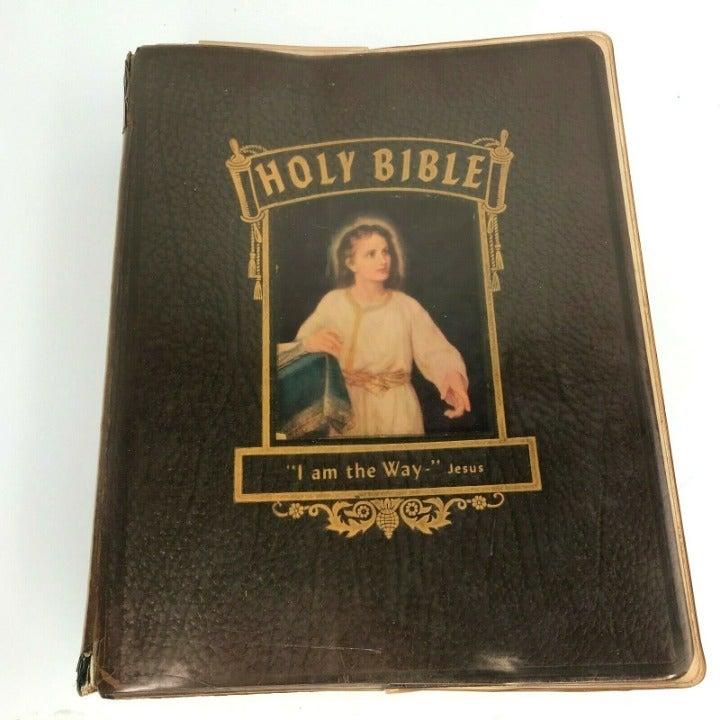 Vtg 1958 Holy Bible Family KJV Reference