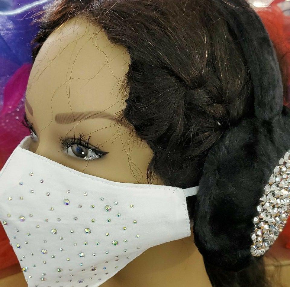 wedding face mask and ear muffs set