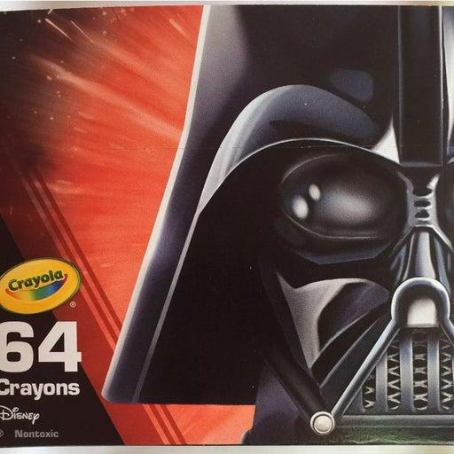 Crayola Star Wars Crayons 64 Darth Vader