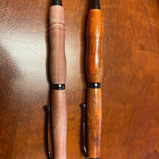 Wood turned pens