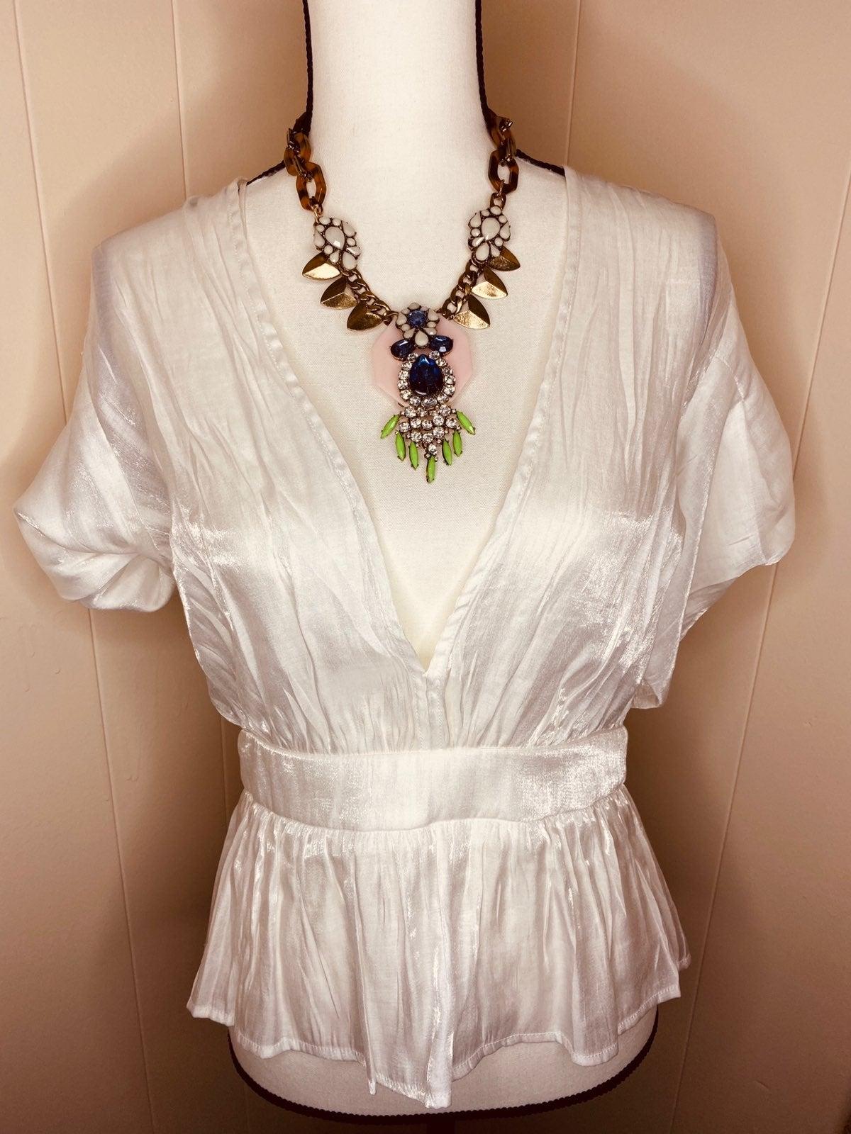 Beautiful white elegant blouse