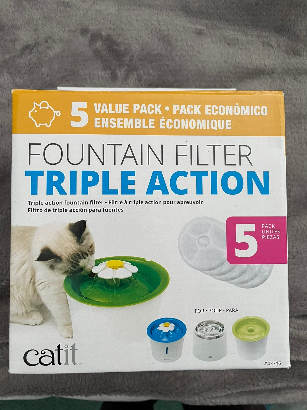 CAT Fountain filter triple action