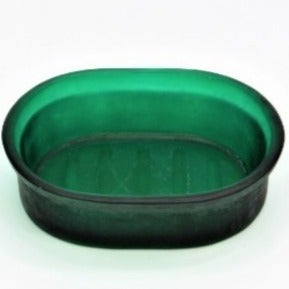 Solid Recycled Green Glass Soap Dish