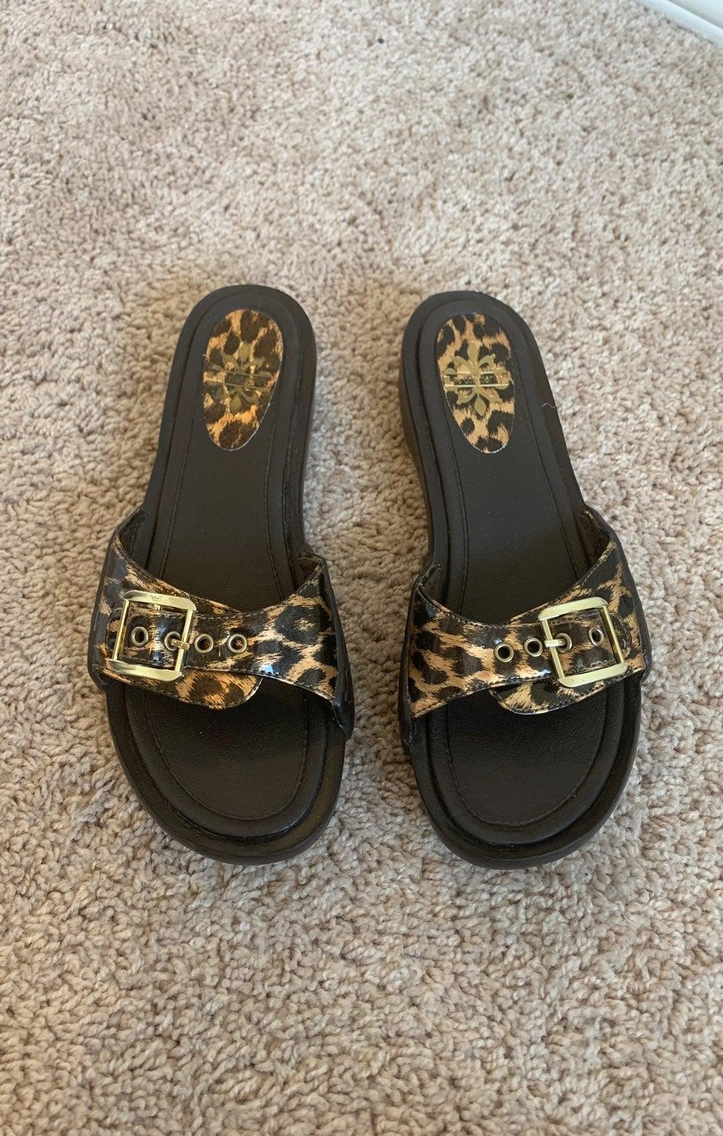 No Boundaries Leopard Sandals
