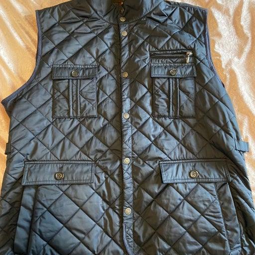 Cremieux mens vest navy xl