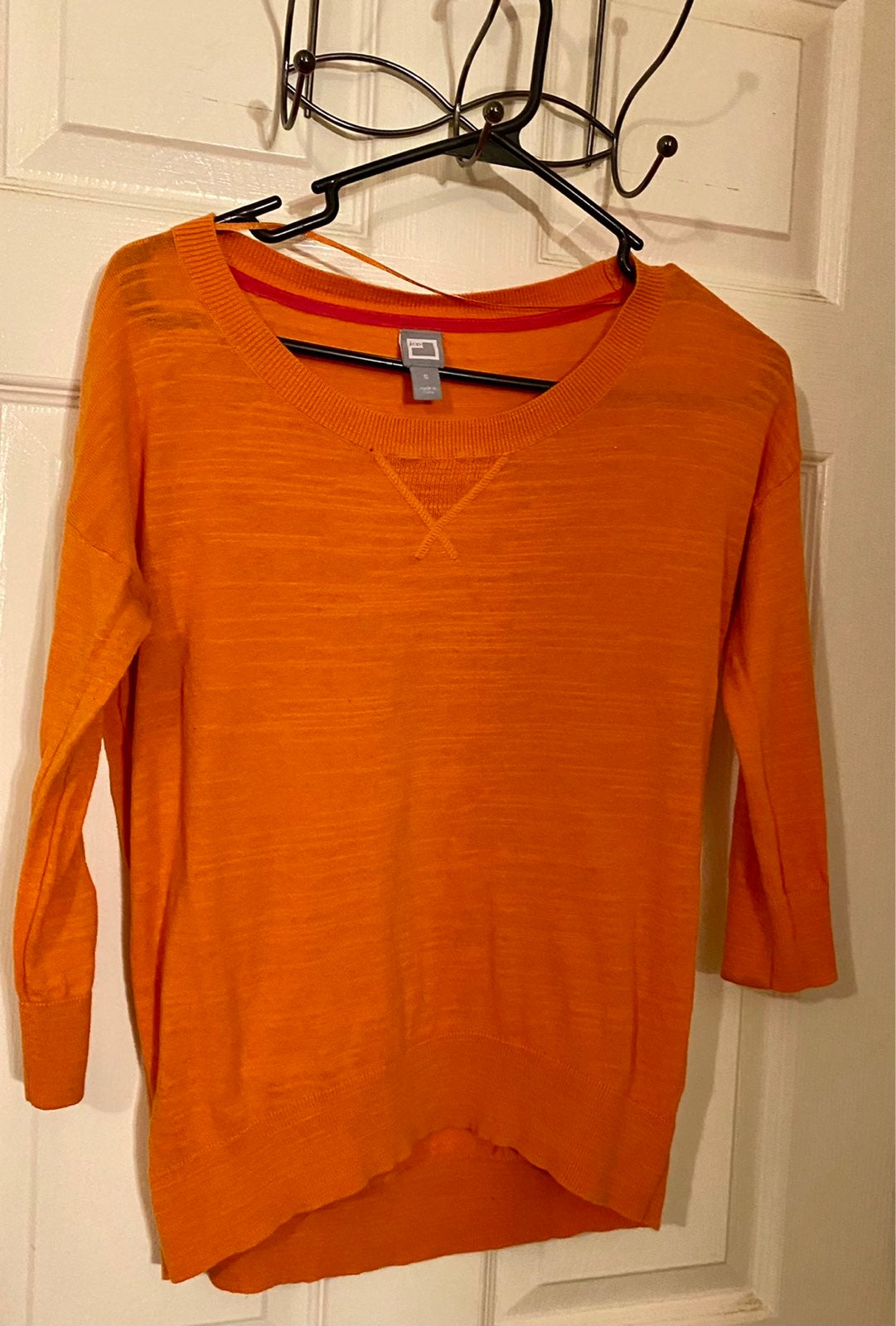 Orange/ tangerine half sleeve top