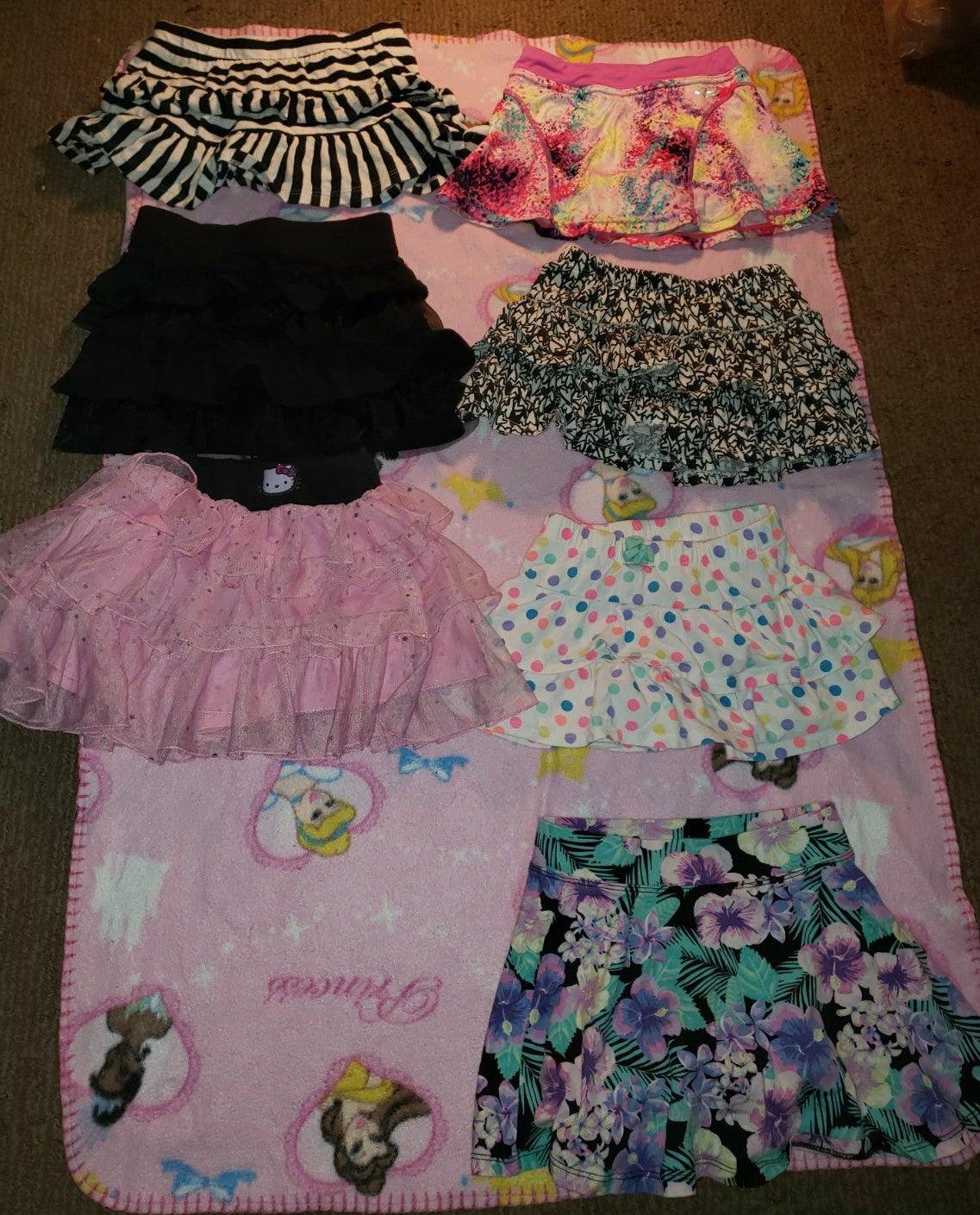 7 girls skirts size 4