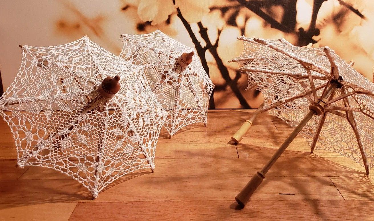 4 Mini Umbrella decorations