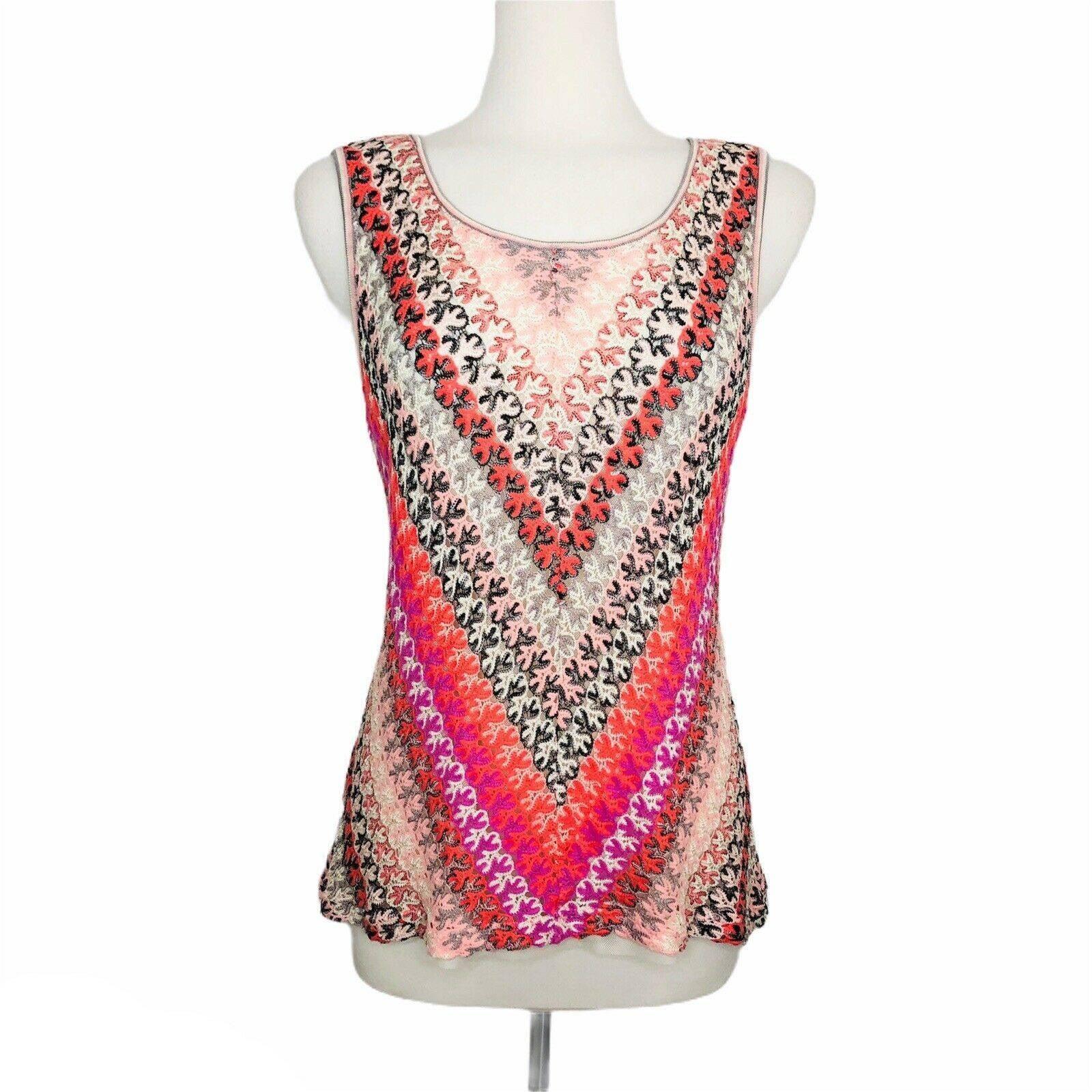 NIC+ZOE  Crochet Knit Lace Layered Top M