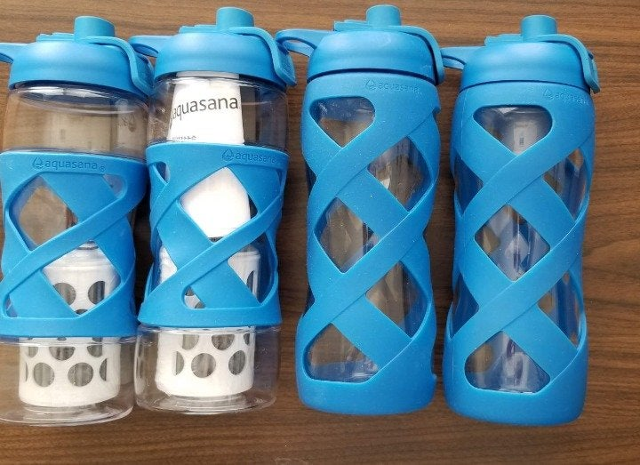 4 Pack Aquasana Water Bottles w/2Filters