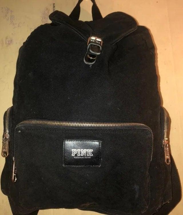 PINK VS BLACK BACKPACK BAG LARGE