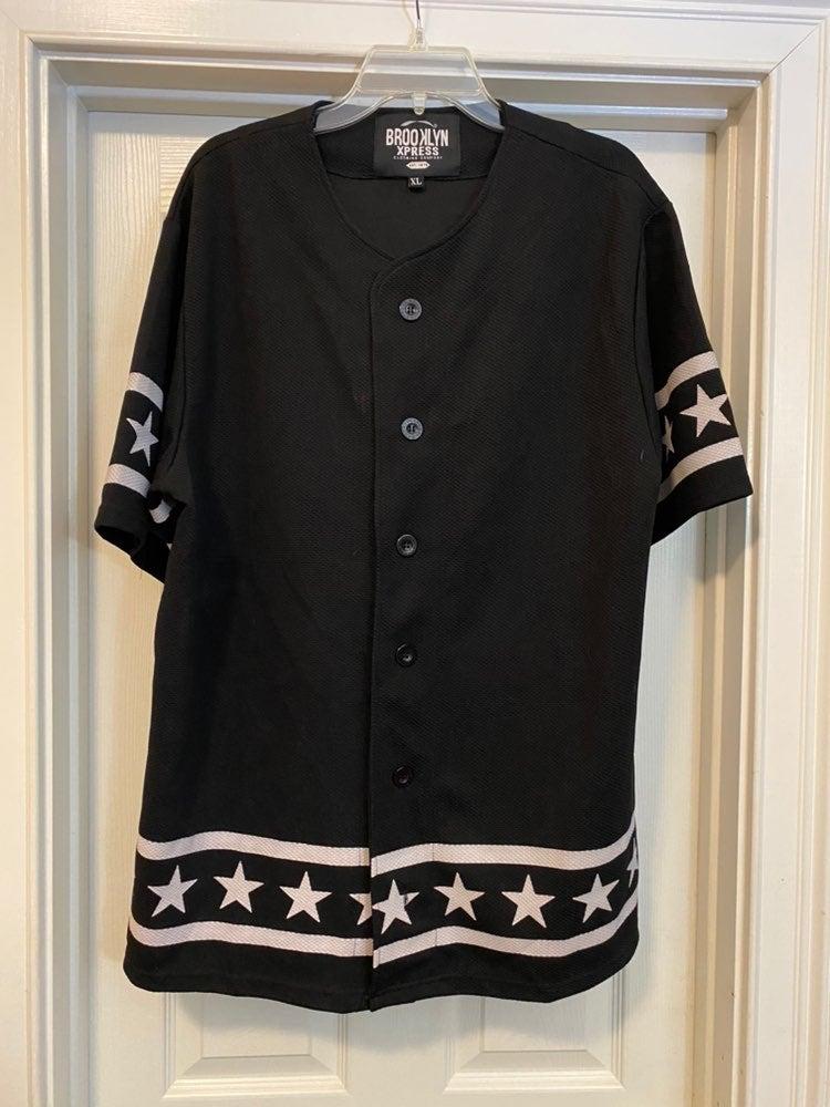 Brooklyn Xpress XL Black and Stars Jerse