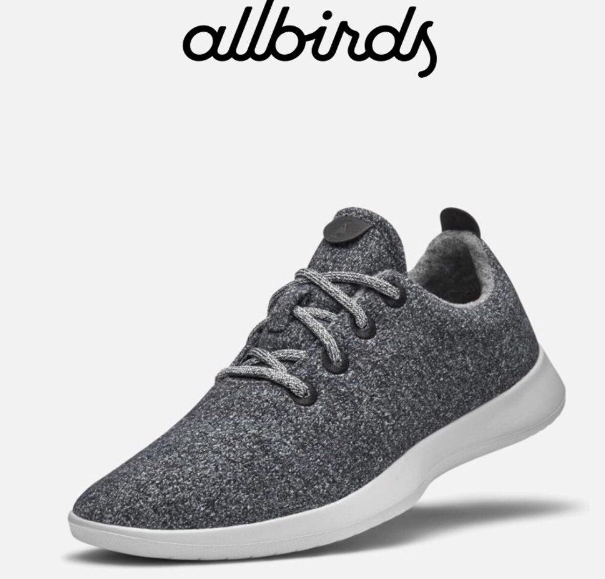 Allbirds Men's Dark Gray Wool Runners