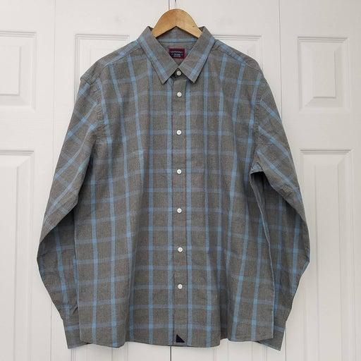 Untuckit Plaid Buttondown Shirt Cotton