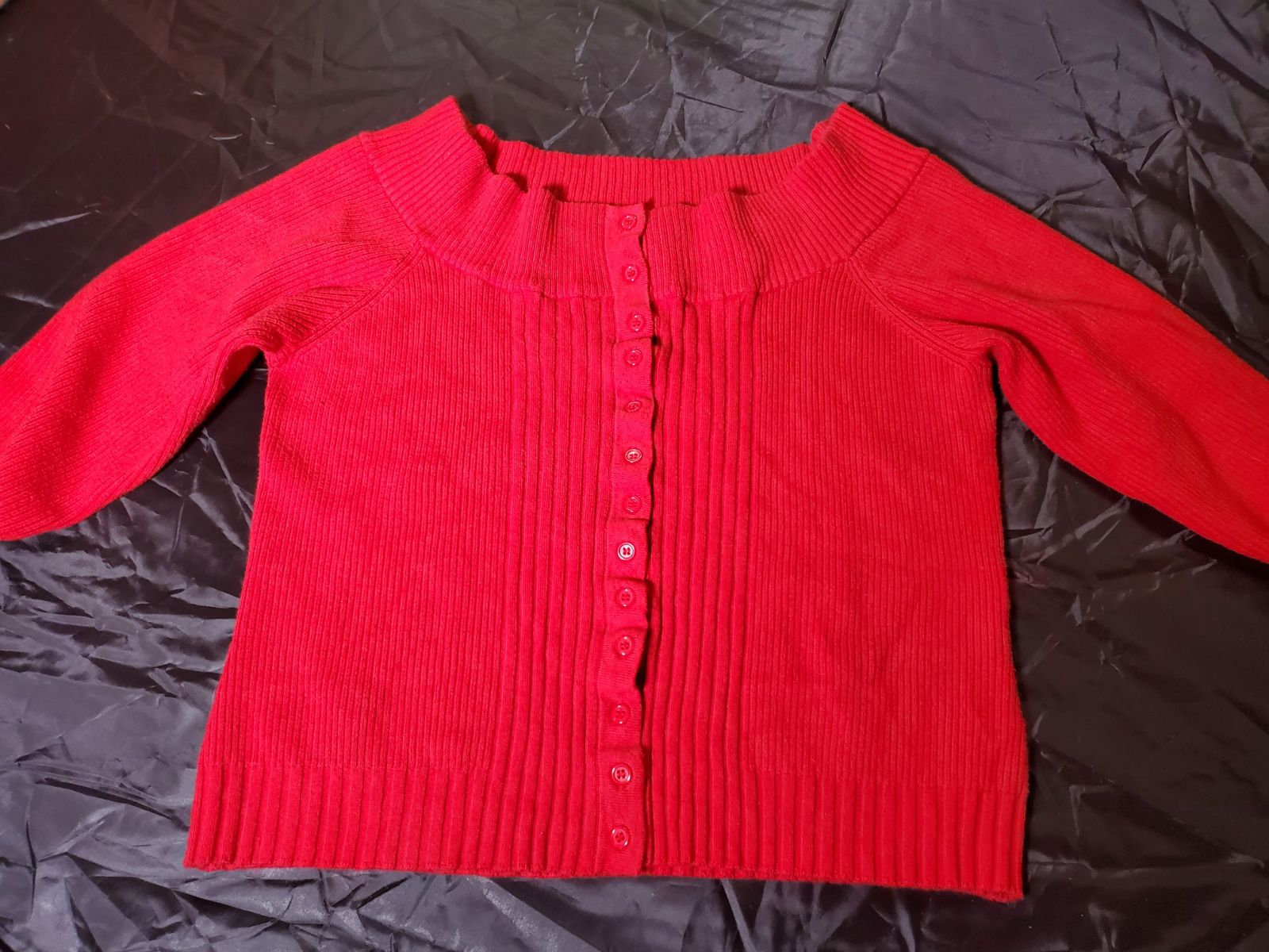 Takeout Cold Shoulder Crop Sweater sz XL