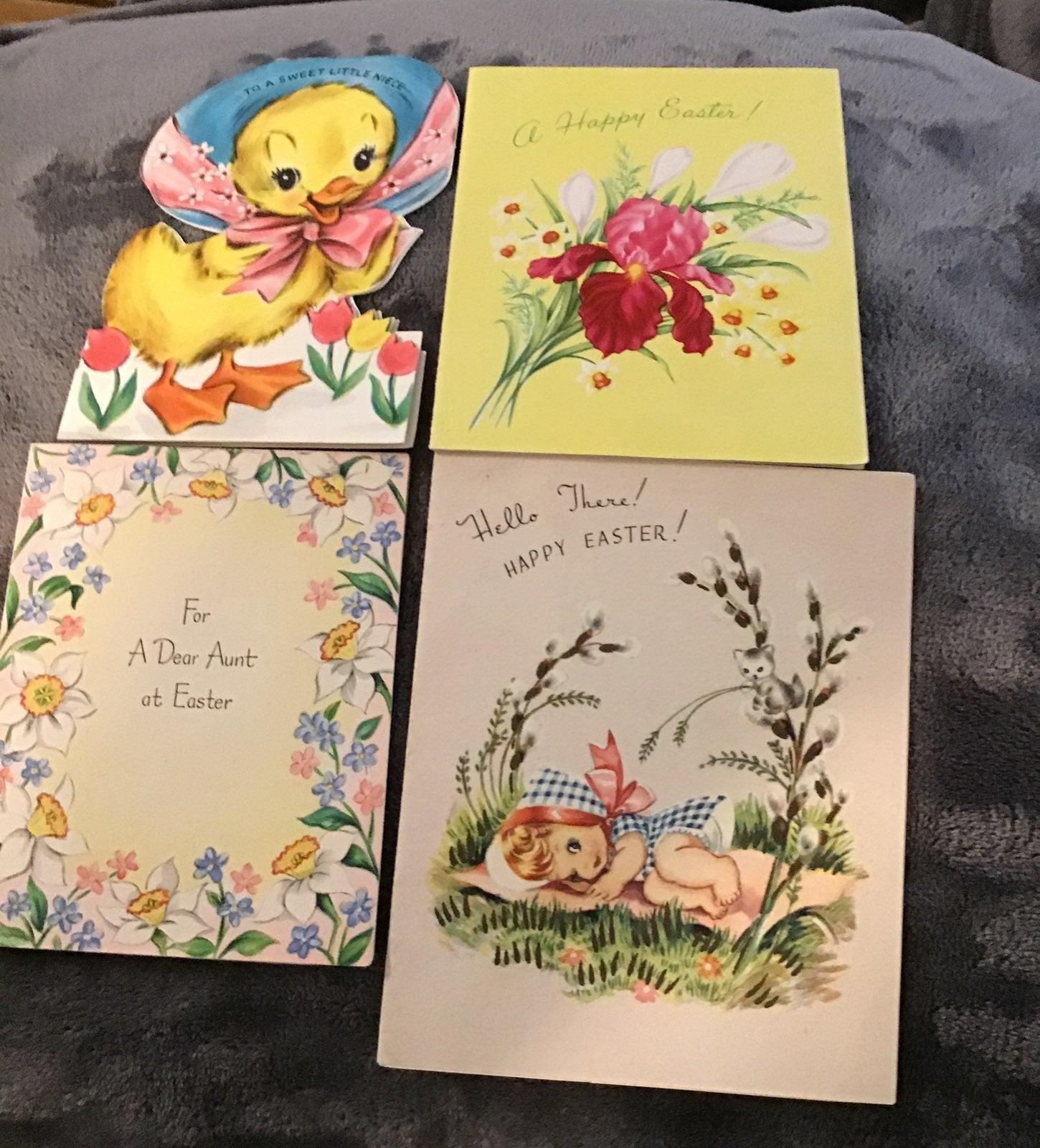 cards,greeting,Happy Easter 4 vintage ca