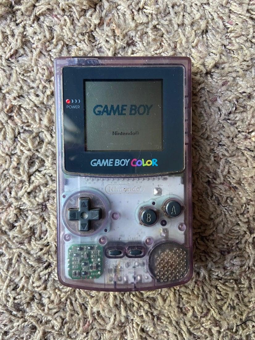 Transparent Purple Gameboy & game