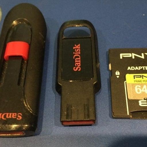 64GB/64GB/8GB sandisk sd & usb drives