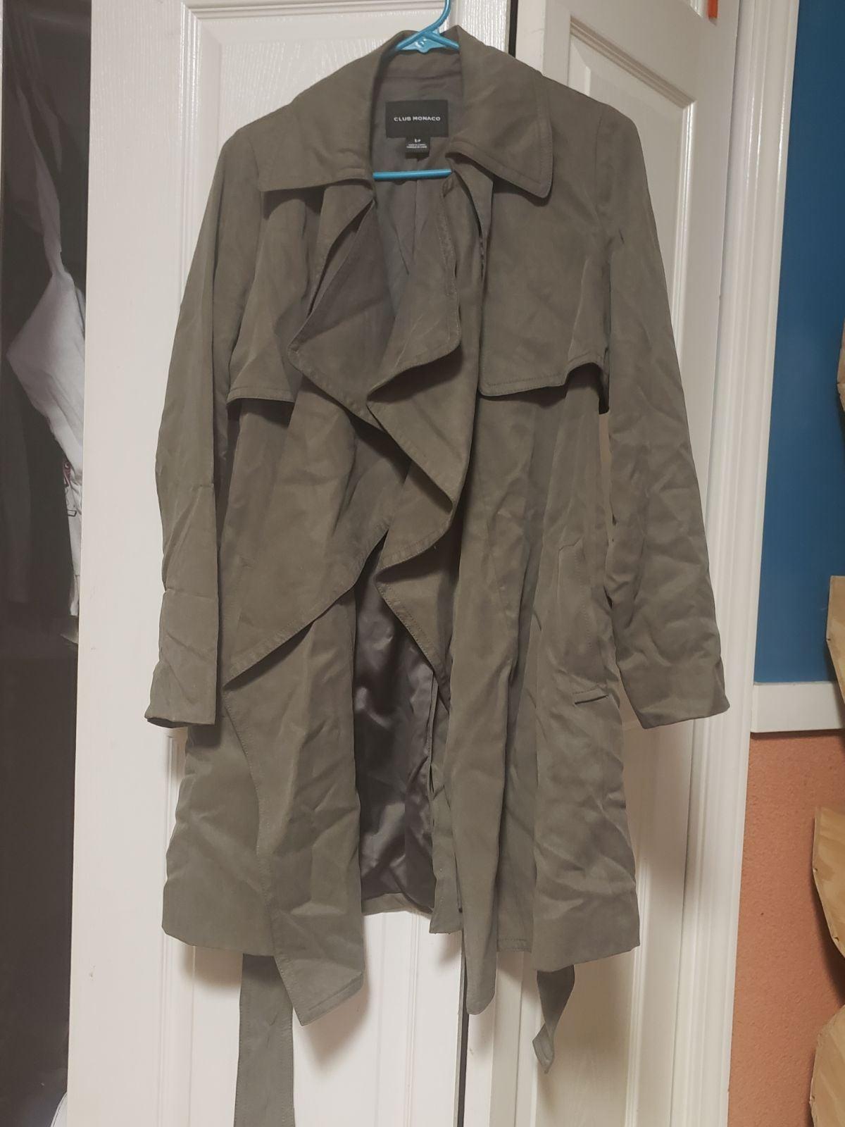Club Monaco Green Jacket / Robe Sz Small