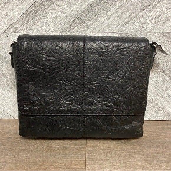 Frye Leather Texture Large Messenger Bag