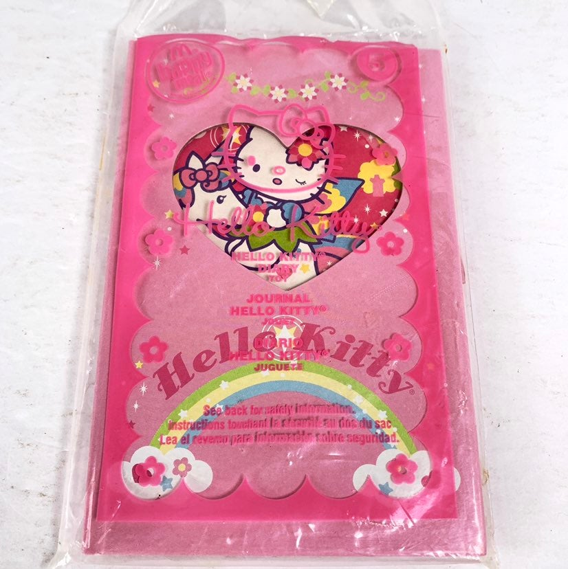 2007 McDonalds Hello Kitty Journal or Diary with Stickers New Sealed Sanrio