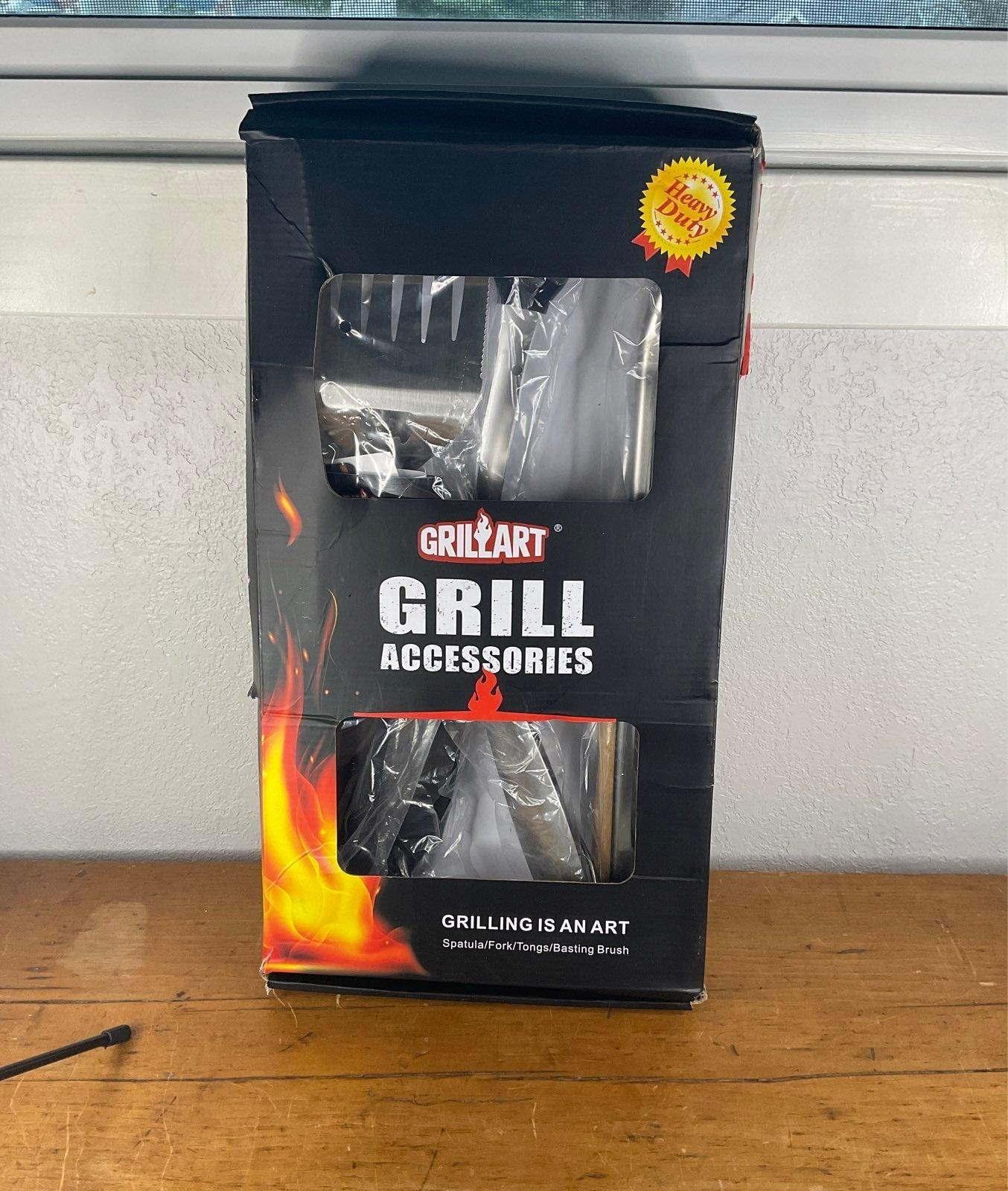 GRILLART Heavy Duty BBQ Grill Tools