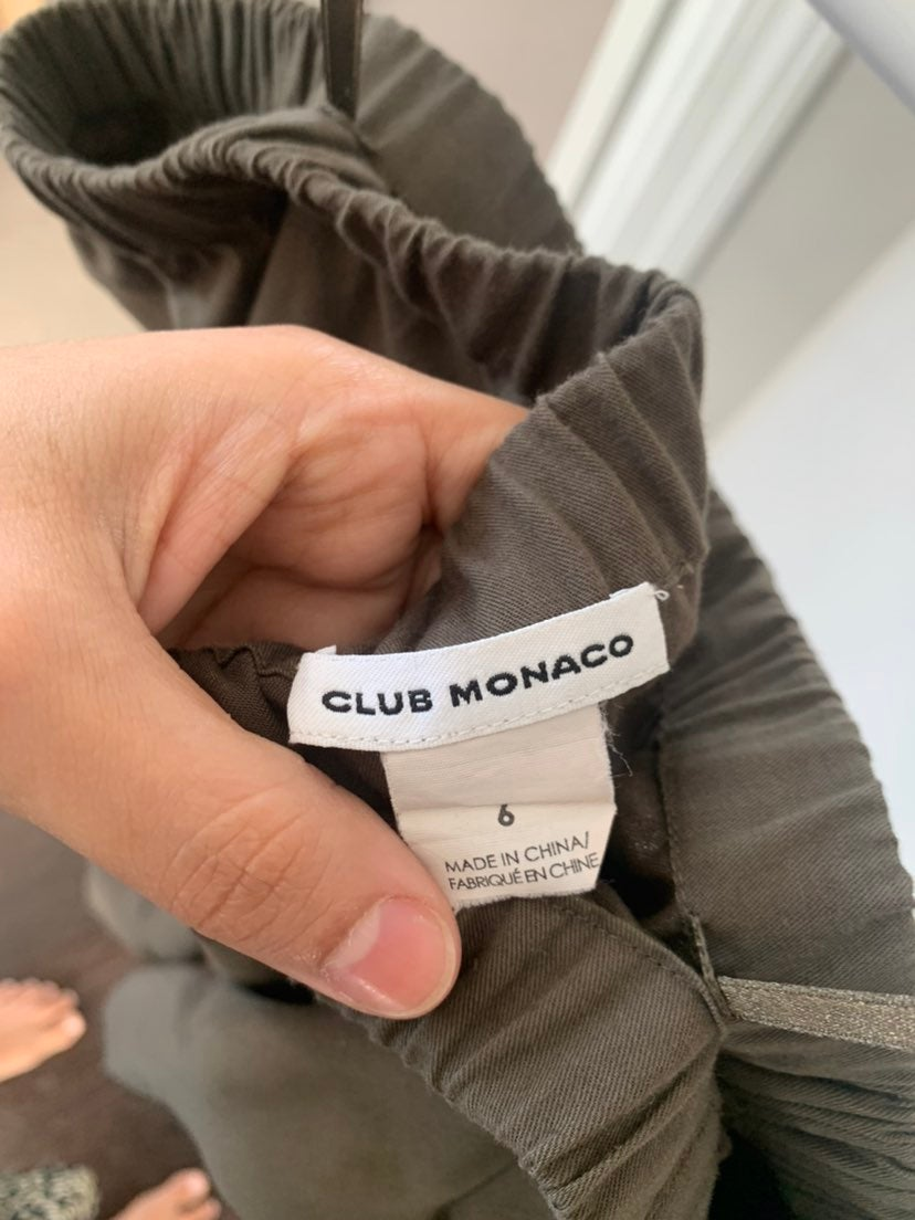 Army green Club Monaco dress