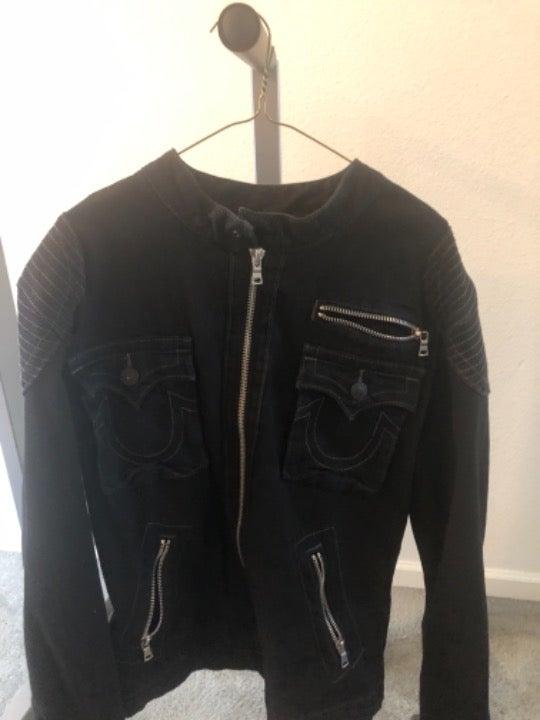 Preowned Black Tru Religion Jacket
