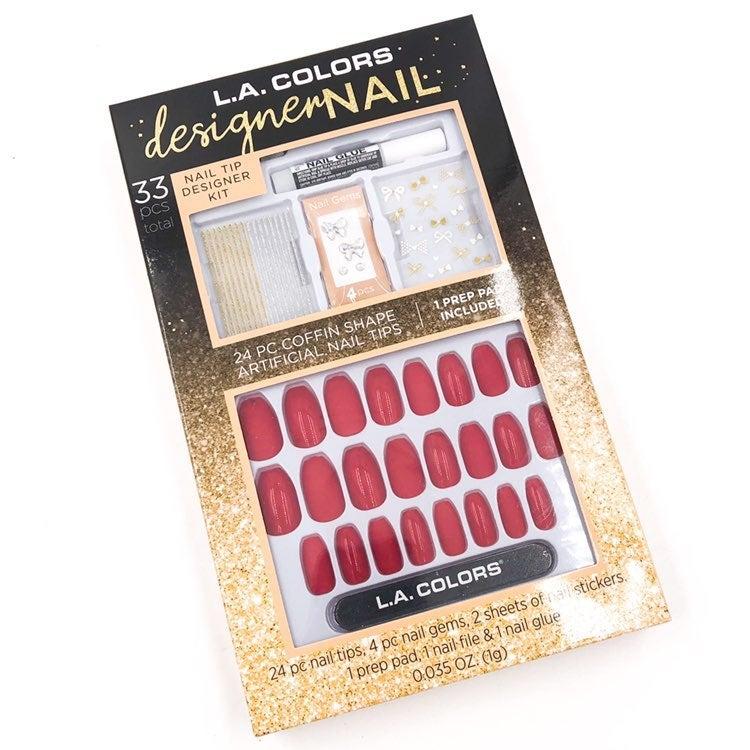 LA Colors Designer Nail Kit Red