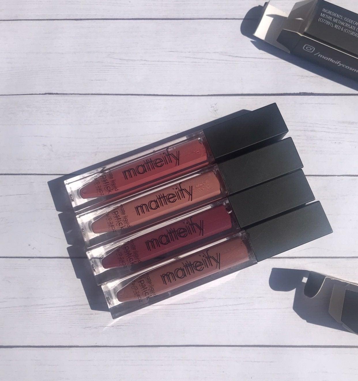New 4 pc matteify matte liquid lipsti