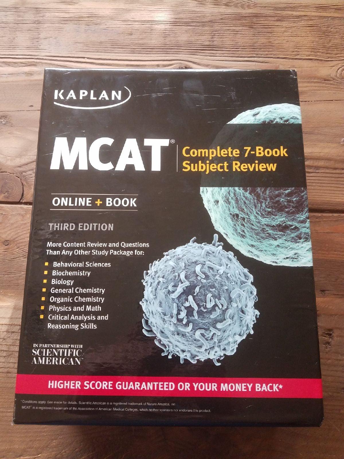 Kaplan MCAT Complete 7 Book Subject Revi