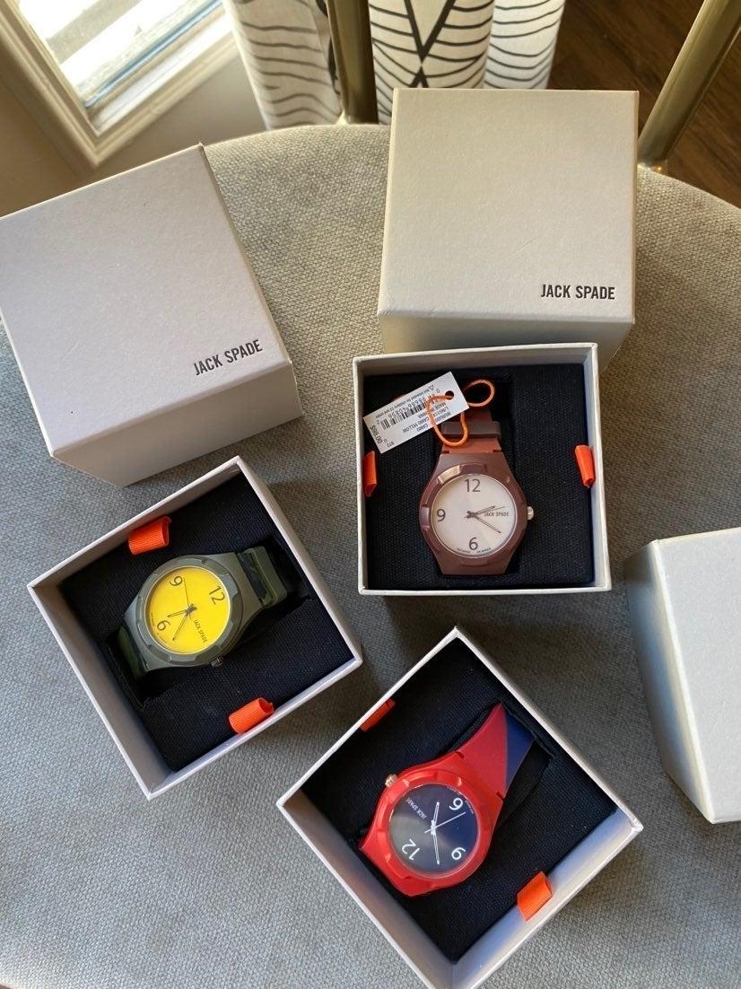 Jack Spade watch 3 watches