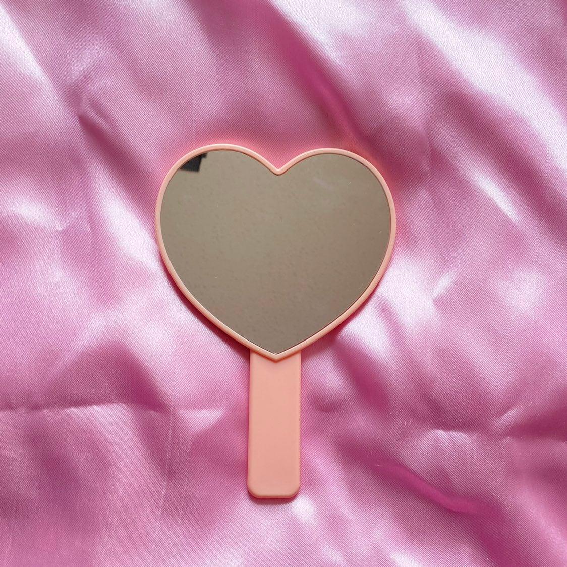 Pastel Pink Heart Shape Mirror