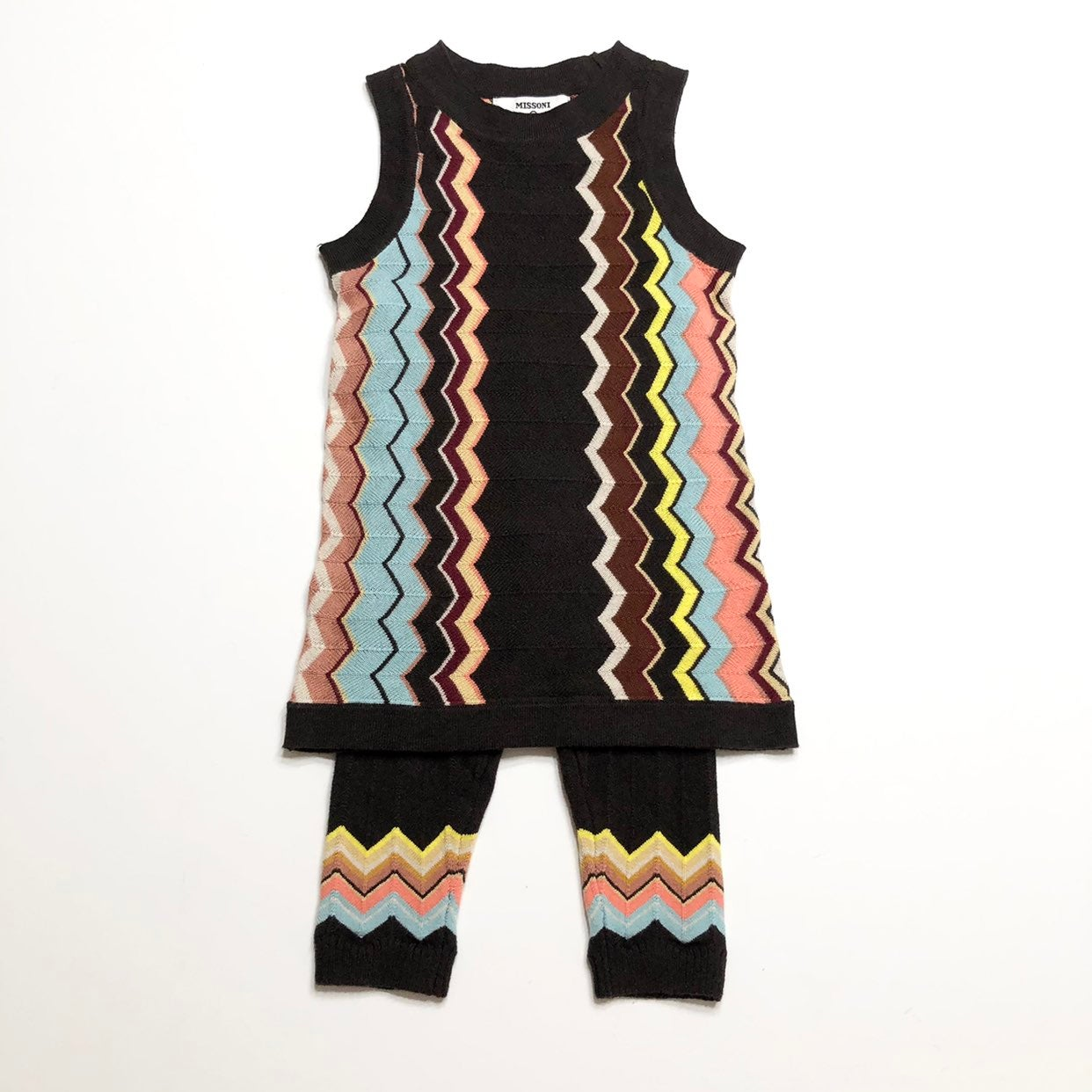 Missoni Infant Toddler Girls Chevron Stripe Zig Zag Sweater Pants NWT Free Ship