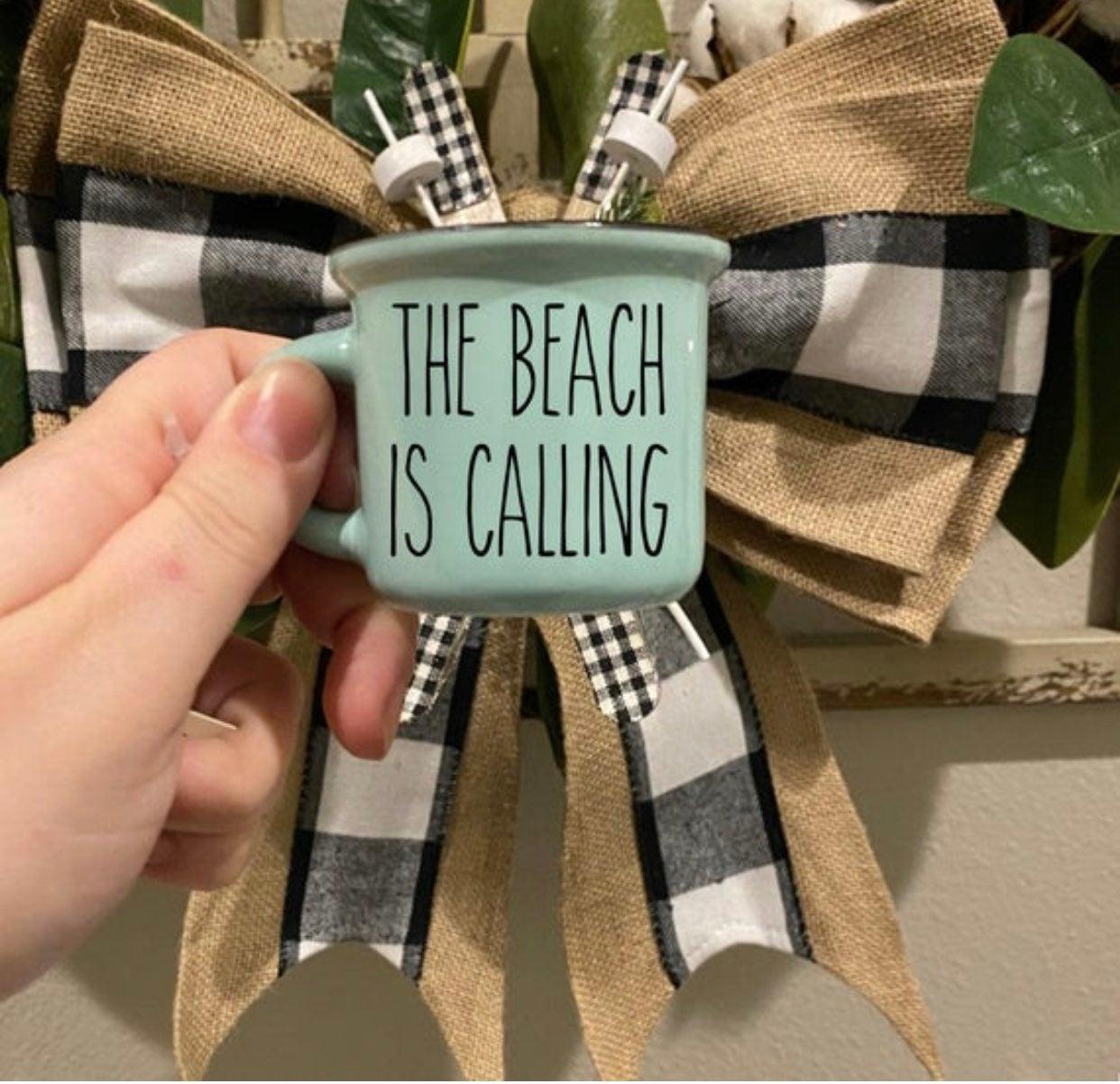 Rae Dunn Font Beach is Calling Mini Mug