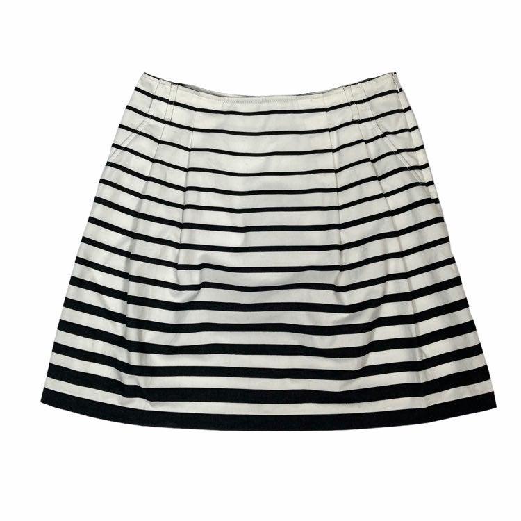Nwt whbm striped full skirt belted sz 12