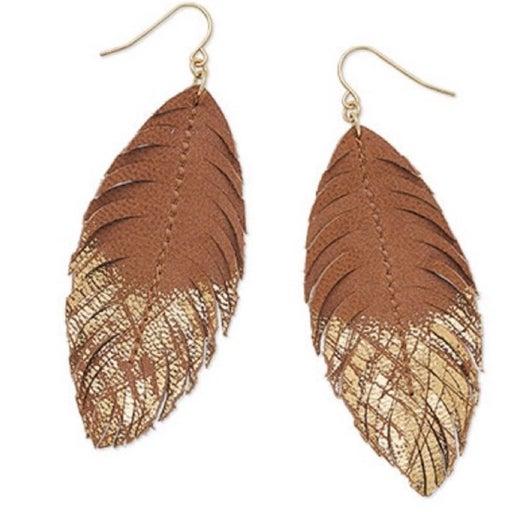 Premier Designs Leather Earrings