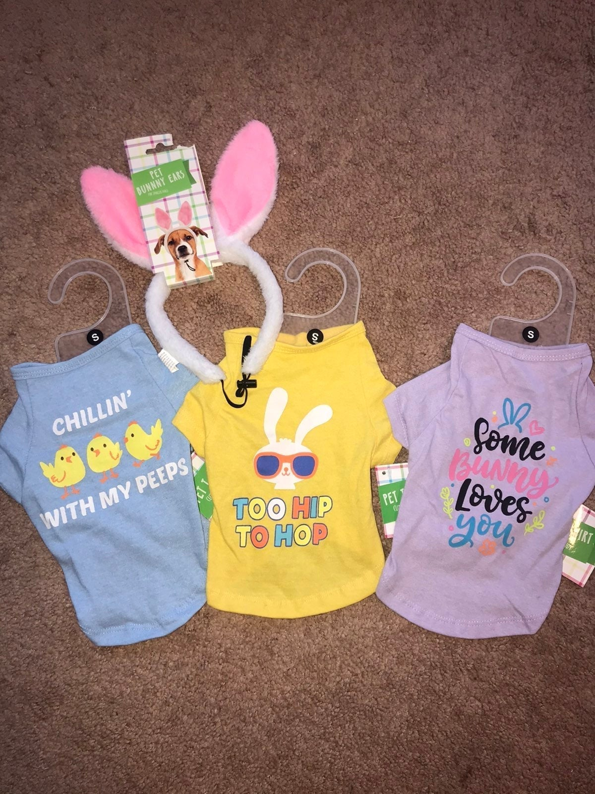 Pet Easter T-Shirts with Pet Bunny Ears