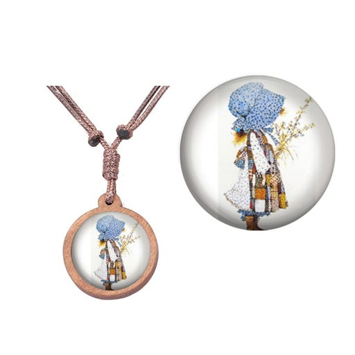 Holly Hobbie Friends Wood Necklace 32 in