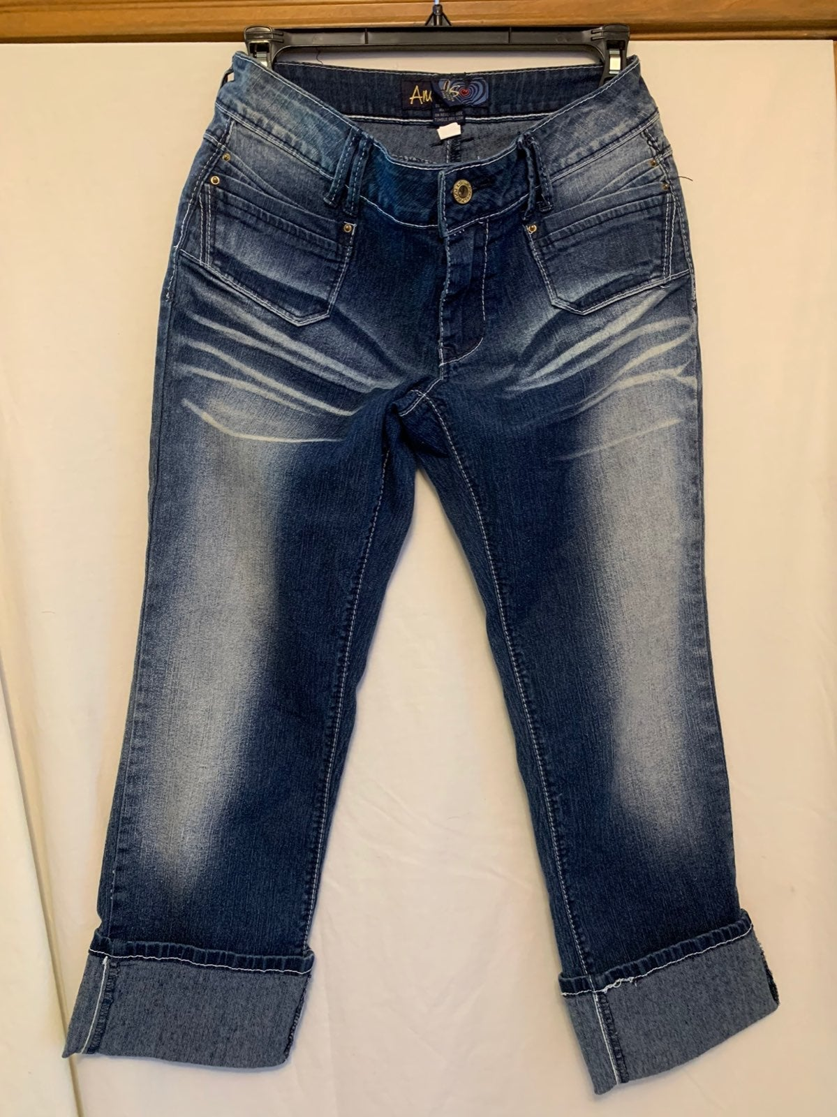 Angels Cropped Cuffed Jeans Size 9