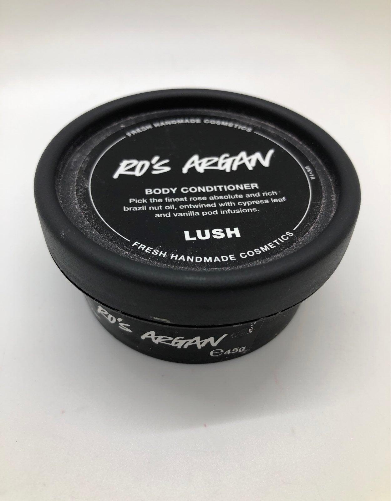 lush cosmetic ros argan body conditioner