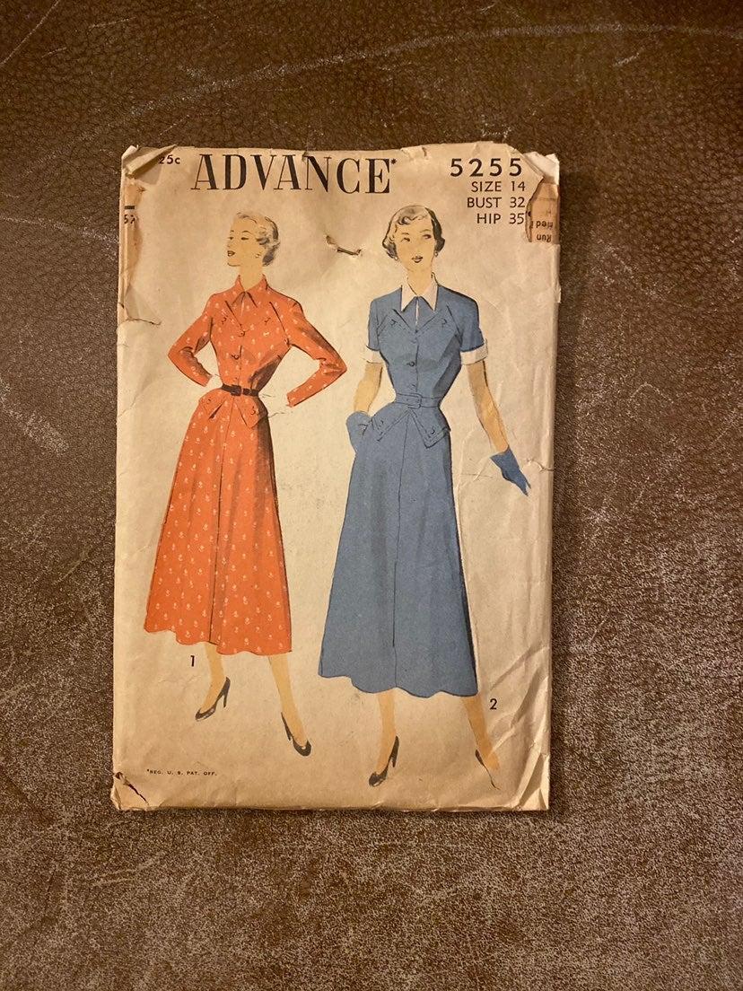 1940s Advance Sewing Pattern