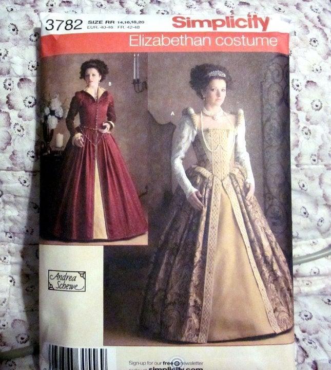Simplicity #3782 Elizabethan Costume FF