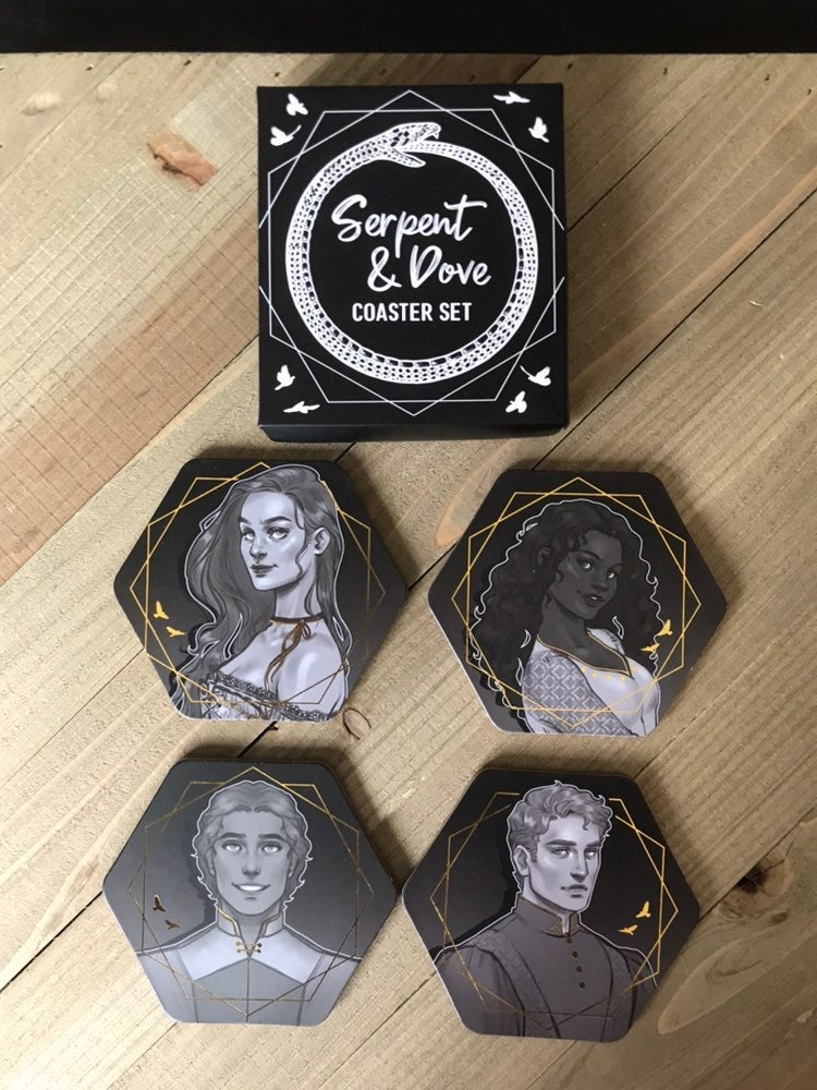 Serpent and Dove Foil coasters Fairyloot