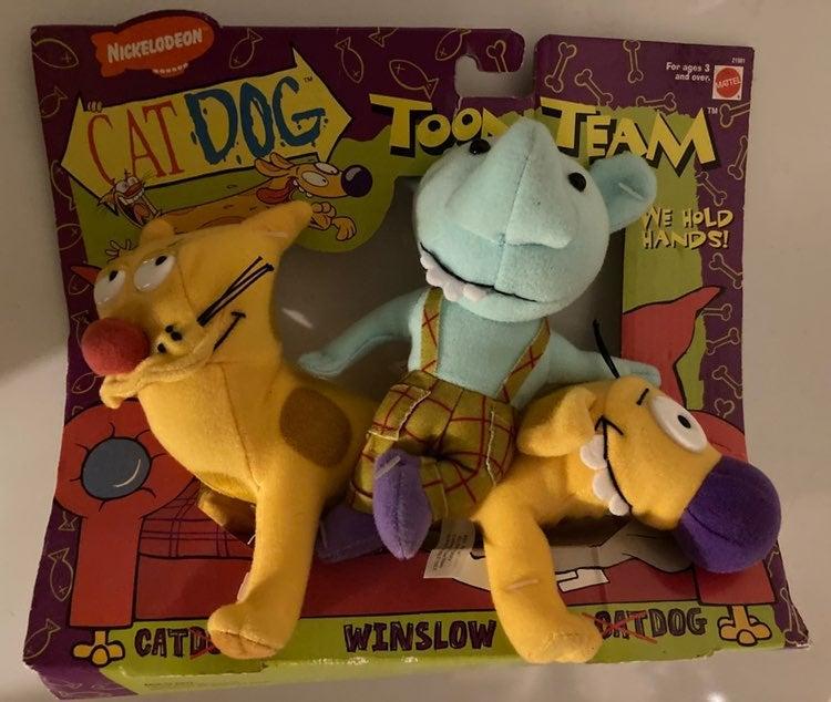 Nickelodeon CatDog Plush Set (1998)