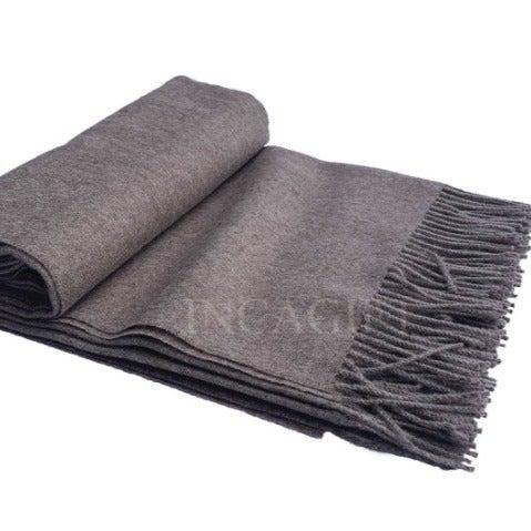 Sand 100% Baby Alpaca Throw Blanket