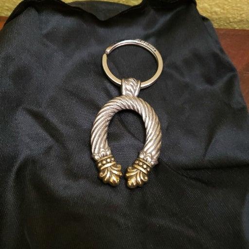 Brighton Silver Horseshoe Keychain Vtg