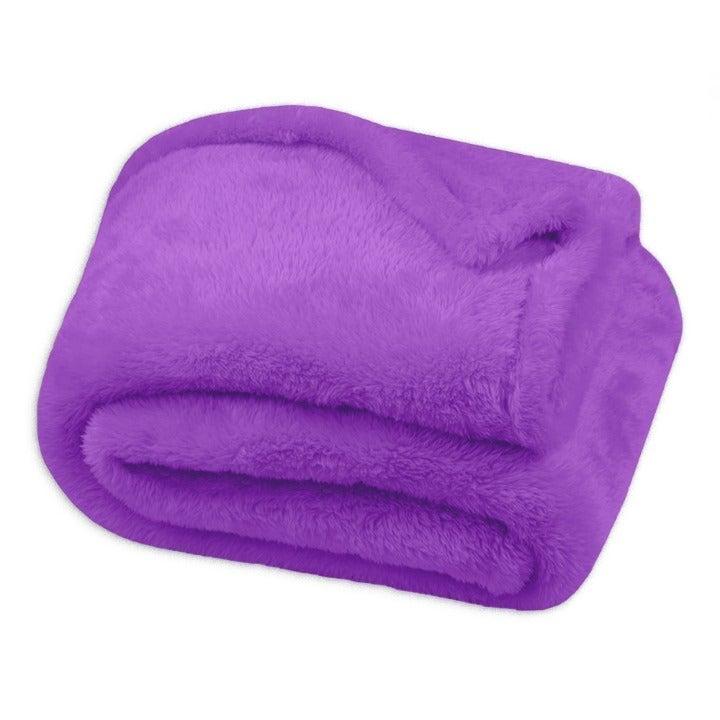 Oversized Velvet Throw Blanket, Lilac