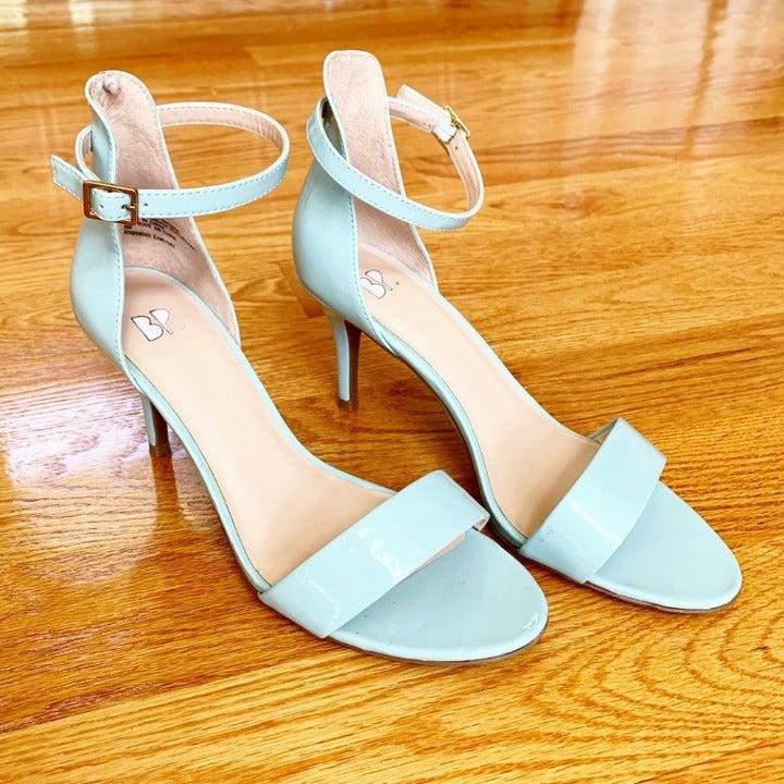 Robin's egg blue BP. strappy sandals